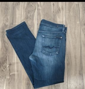 5/$25 7 For All Mankind Slimmy Jeans 34 Straight